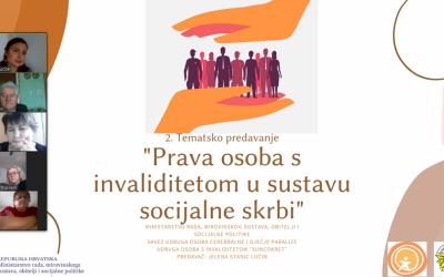 """Održano 2. tematsko predavanje u sklopu programa """"Klubovi korisnika- Klub Aktiv"""""""
